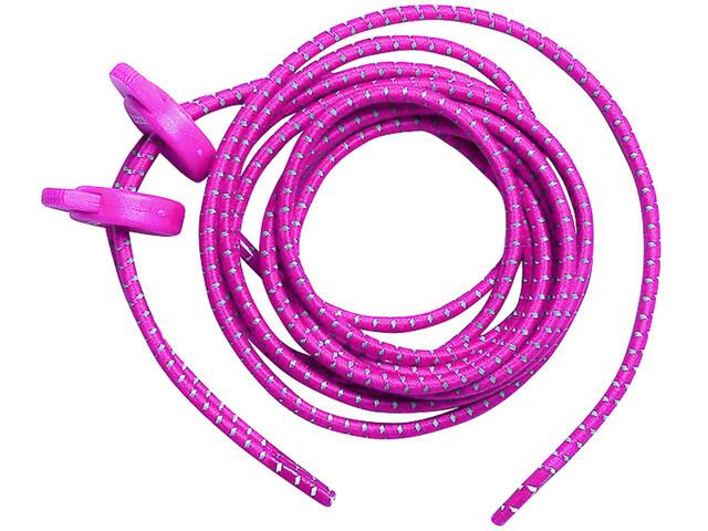 Zone3 Elastic Laces, neon pink